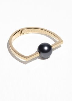 & Other Stories   Pearl Bead Bangle