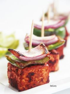 Tandoori Tofu (on its own or to be added to curries in lieu of meat)