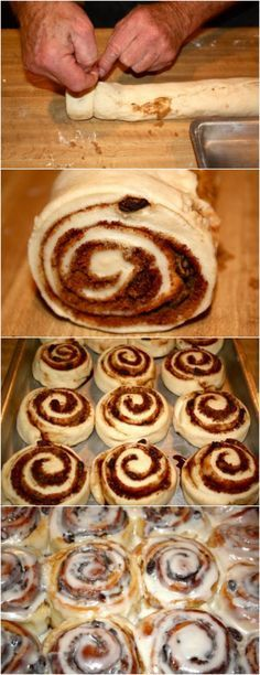 These are the BEST cinnamon rolls! Everyone always asks for my dad's famous recipe! These are the BEST cinnamon rolls! Everyone always asks for my dad's famous recipe! Best Cinnamon Rolls, Cinnamon Recipes, Baking Recipes, Recipe For Cinnamon Rolls, Easy Homemade Cinnamon Rolls, Pioneer Woman Cinnamon Rolls, Cinnabon Cinnamon Rolls, Cinnamon Roll Dough, Cinnamon Roll Cookies