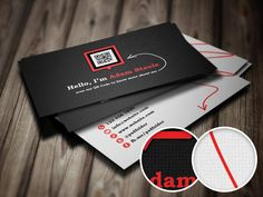 Free PSD Scan My QR Code Business Cards Carte De Visite