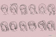 4 Formas de Desenhar Cabelo no Estilo Anime - wikiHow