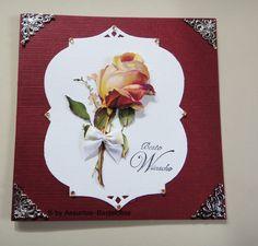 Gruß- oder Glückwunschkarte mit einer wunderschönen Rose,  beste Wünsche Frame, Home Decor, Crafting, Nice Asses, Picture Frame, Decoration Home, Room Decor, Frames, Home Interior Design
