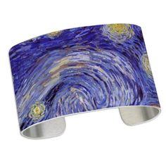Van Gogh Starry Night Cuff Bracelet on CafePress.com