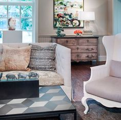 Robin Rains Interior Design Natural Colors For A Chic Sitting Area