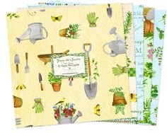"""From the Garden - (24) 10"""" Squares - Wilmington #supplies @EtsyMktgTool http://etsy.me/2rJkXoF #quilting #wilmingtonprints #janemaday"""