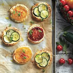 Quick, easy and delicious, puff pastry appetizers are the best way to start a party. Get the recipes for these vegetable tarts and more at Chatelaine.com