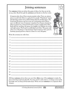 Worksheets Reading Language Arts Worksheets trees english and feelings on pinterest 3rd grade 4th 5th reading writing worksheets putting sentences in order worksheetslanguage arts