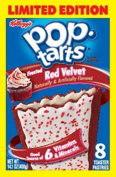 Red Velvet Pop Tarts...what?!?! YUM!  I love pop tarts so much.