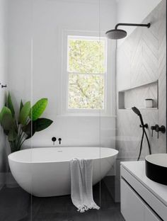 Home Interior Decoration Modern Scandinavian bathroom interior in black and white.Home Interior Decoration Modern Scandinavian bathroom interior in black and white Laundry In Bathroom, Bathroom Inspo, Paint Bathroom, Bathroom Small, Bathroom Mirrors, Cozy Bathroom, Bathroom Plants, Laundry Rooms, Bathroom Storage