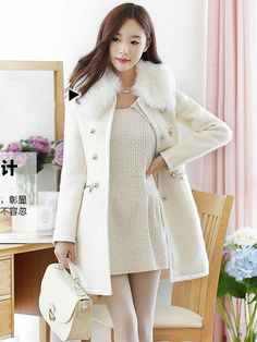 Pretty Women's Double Breasted Trench Coat 3 Colors