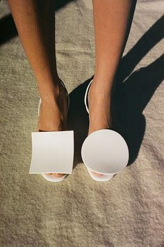 ROND CARRE HEELS, WHITE | @andwhatelse
