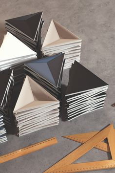 Ceramic Technics' B-E-A-U-T-I-F-U-L ceramic wall tile, Scandiano Triangles. 3d Wall Tiles, Ceramic Wall Tiles, 3d Triangle, Sales Representative, White Tiles, Dentistry, Triangles, Piano, Ceramics