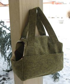 Pet Carrier Zippered Tote- Green Tweed