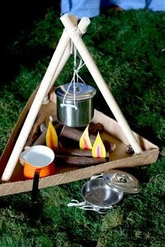 "Campfire made from upcycled items-Every classroom should have a ""campfire!"" It's a great place for class meetings, Author Share, DEAR time, etc.~"