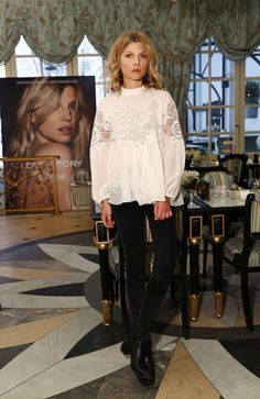 Clemence Poesy Promotes New Chloe Love Story Fragrance - NYC