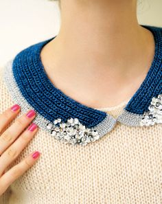 crochet collar More