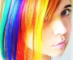 Ok, this girl and her Rainbow Brite hair is freakin awesome! I'm not gonna lie. Awesome!