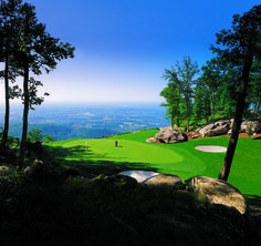 In 1995, Golf Digest rated The Cliffs at Glassy Mountain the 4th most scenic golf course in the US! #GolfCourseOfTheDay | Rock Bottom Golf #RockBottomGolf