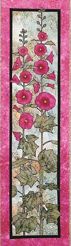 Hollyhocks Applique Quilt  Pattern by Quilts 'N Stuff