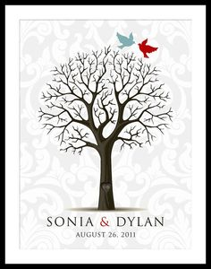 I think this would be a great idea for a family tree too... not just for weddings.