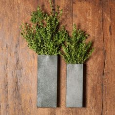 $19 and $16 respectively Hanging Metal Planters