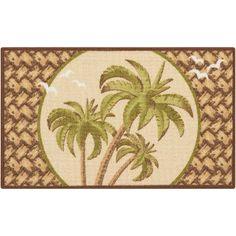 Bay Isle Home Avington Hand-Tufted Beige/Green Area Rug Pineapple Door Knocker, Essential Elements, Best Carpet, Tree Designs, Accent Rugs, Palm Trees, Color Splash, 5 D, Decorative Pillows