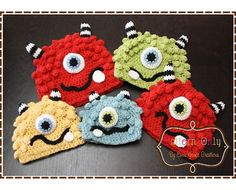 Monster Hat Crochet Pattern - BRONSTER & MISSY - 104 --- Permission to Sell Finished Items. $5.50, via Etsy.