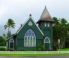 Green Church in Hanalei, Kauai, Hawaii