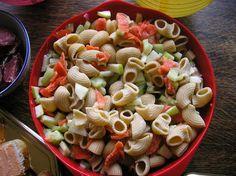 Salade de pâtes saumon concombre pomme granit