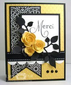 card Wedding Card Great wedding card Thank you card Wedding Shower Card - Stampin Up Envelopes Decorados, Karten Diy, Pretty Cards, Card Sketches, Paper Cards, Flower Cards, Creative Cards, Greeting Cards Handmade, Scrapbook Cards
