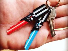 Space Keys or Lightsaber Keys are just about the coolest set of keys that a Star Wars fan could ever want.