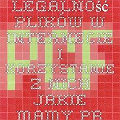 Legalność plików w internecie i korzystanie z nich - jakie mamy prawa i co nam grozi.