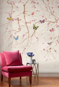 Designer Wallpaper Online Store for USA & Canada Designer Wallp. eagle owls of paradise birds Wallpaper Online, Home Wallpaper, Interior Wallpaper, Brown Wallpaper, Wallpaper Murals, Diy Wand, Diy Wall Painting, Painted Wall Murals, Tree Wall Murals