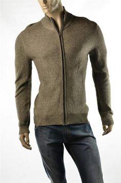 Calvin Klein Jeans Sweater Mens NWT Ribbed Cardigan Jumper Jacket CK Sz M NWT #ebay 5 Gables