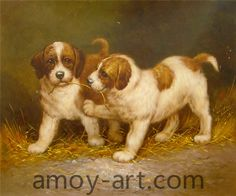 AA04DG001 (9)-Dog-China Oil Painting Wholesale | Portrait Oil Painting| Museum Quality Oil Painting Reproductions