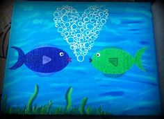 Fishy Love by LifesAcanvas on Etsy, $45.00