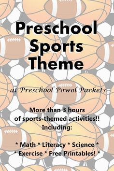 Sports Theme Preschool Lesson | Preschool Powol Packets