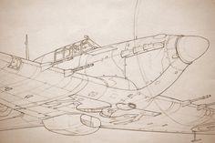 Фото: Hawker Hurricane Original Art By Paul Mason