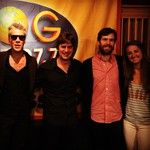 Foghead meets Matchbox 20 after their performance on the KFOG Playspace.