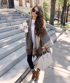 The best part of fall is throwing on a big cozy poncho  This one is so…