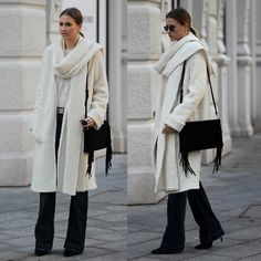 Zign Fringe Bag, Bootcut Denim, Zara Scarf Coat, Isabel Marant Embellished Belt, Pointed Booties, London Retro Sunnies
