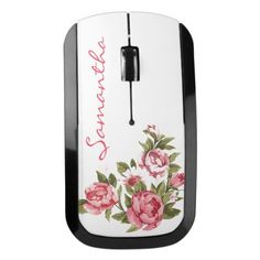 Pink Roses Design Wireless Mouse