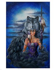 Spirit of the Wolf ♥ Native American Pictures, Native American Artwork, Native American Women, American Spirit, Native American Indians, American Girls, Native Indian, Native Art, Indian Art
