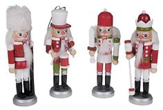 Christmas Red, White, and Green Nutcracker Ornaments