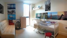 Baby nursery room interior design with animal picture