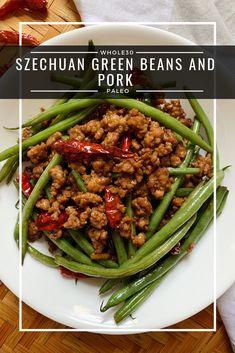 Szechuan Green Beans and Pork Paleo) - a dash of dolly - Paleo Recipes Egg Free Recipes, Pork Recipes, Paleo Recipes, Asian Recipes, Chorizo Recipes, Pork Meals, Skillet Recipes, Diet Meals, Pigs