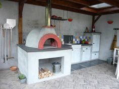 De Tuinoven, great outdoor kitchen with original Fornino wood fired pizza oven.