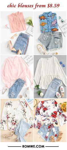 chic blouses from $8.59