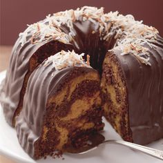 September Chocolate-Coconut and Pumpkin Marble Bundt | Nordic Ware