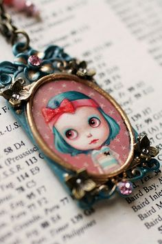 Indiana - custom Blythe cameo by Mab Graves | Flickr - Photo Sharing!